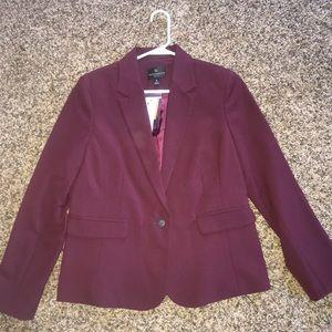 Burgundy women's blazer